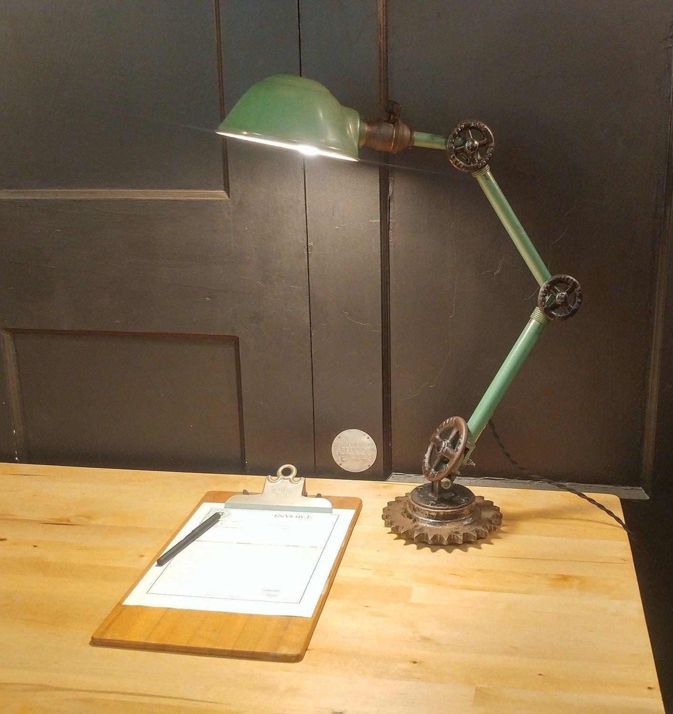 VTG Steampunk Ajusco Desk Lamp Industrial Adjustable Table Task Light