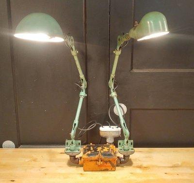 VTG Custom Industrial Articulating Desk Lamp - Work Bench Task Light Steampunk