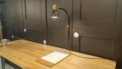 VTG Flexible Gooseneck Arm Desk Lamp Brass Wall Task Light