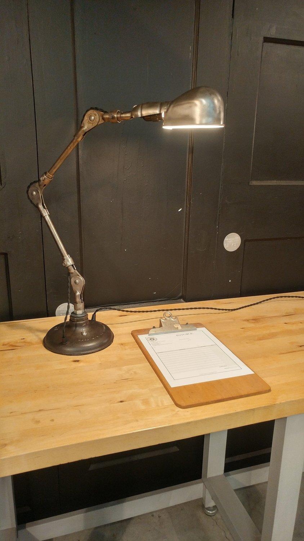 VTG Machinist Desk Lamp Adjustable Industrial Task Light Mid-Century