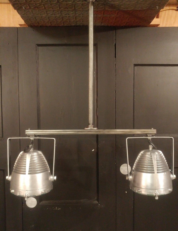 Vintage Industrial Double Pendant Hanging Light Fixture - Kitchen Island Counter