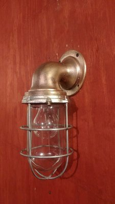 Bronze Explosion Proof Cage Light Nautical Marine Wall Mount