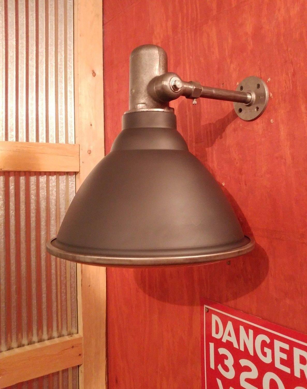 Vintage Industrial Sconce - Flood Light w/ Articulating Arm, Glass Lens