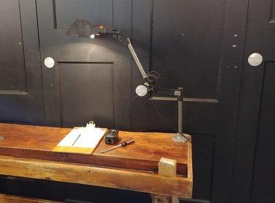 VTG Woodward Machinist Industrial Task Lamp Light Fixture Steampunk Desk