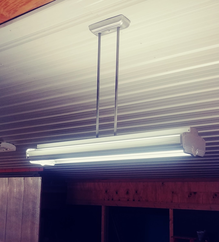 Art Deco Fluorescent Light Fixture -> LED Mid Century Office Pool Table