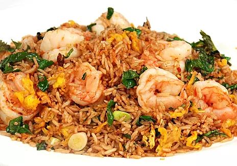 DHHX【东海海鲜】九层塔大虾炒饭 Shrimp Fried Rice with Basil