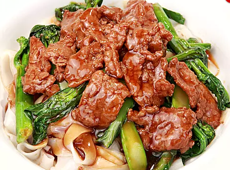 DHHX【东海海鲜】湿炒芥兰牛河 Tossed Flat Rice Noodle with Beef and Chinese Broccoli