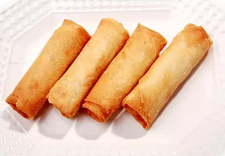 DHHX【东海海鲜】鲜虾春卷 Shrimp Spring Egg Rolls (4pcs)