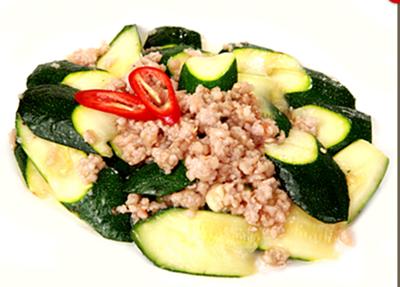 DHHX【东海海鲜】肉碎炒意大利丝瓜 Sautéed Zucchini with Minced Pork