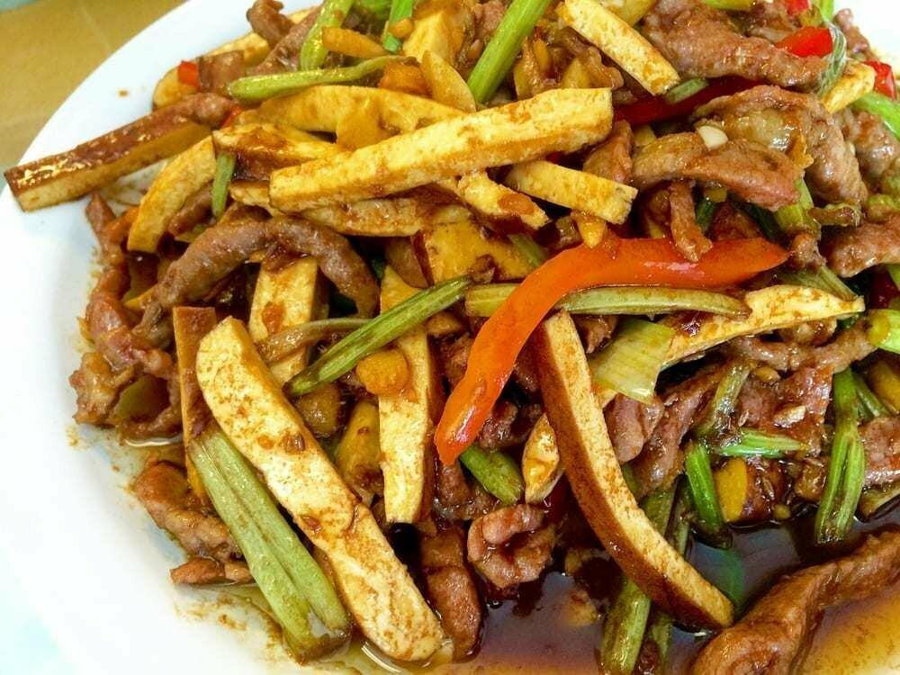 ZWHN【滋味湖南】唐芹香干炒肉丝 Sauteed Shredded Pork, Dried Bean Curd & Celery