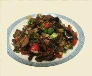 ZWHN【滋味湖南】干烟笋炒腊牛肉 Sauteed Beef with Dried Smoke Sativa
