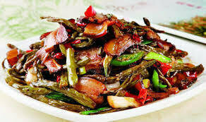 ZWHN【滋味湖南】干豆角炒腊肉/鸡胗 Sauteed Pork with Dried Long Bean