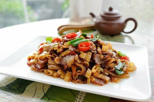 ZWHN【滋味湖南】笋干炒腊肉/鸡胗 Sauteed Pork with Dried Bamboo shoot