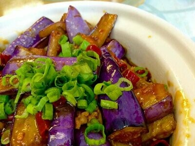 ZWHN【滋味湖南】红烧茄子煲(不辣)Eggplant with Brown Sauce
