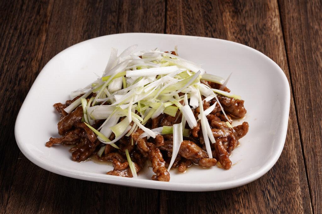 XXCT【小熊川菜CT】京酱肉丝扒时蔬  Shredded Pork in Three Paste Sauce (除节假日外每周二休息)