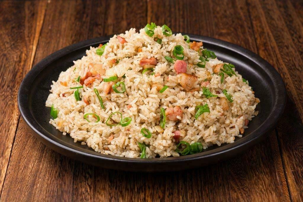 XXKT【小熊川菜KT】绿茶培根炒饭 Green Tea Bacon Fried Rice