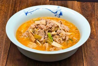 XXKT【小熊川菜KT】金汤肥牛 Fatty Beef in Golden Pumpkin and Sauerkraut Soup