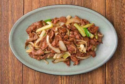 XXCT【小熊川菜CT】小炒羊肉 Sauteed Lamb with Veggies (除节假日外每周二休息)