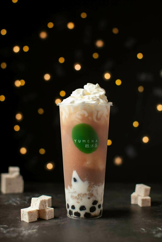 YUMCHA【雅沐茶】香芋波波烧 Taro Bobo Milk(外卖无顶部Cream)