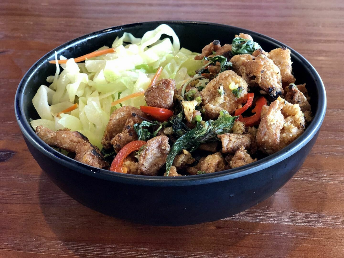 【Asia Blue】盐酥鸡饭 Salt and Pepper (Popcorn) Chicken With Minced Pork