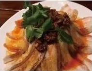 KLM【坤拉面】蒜泥白肉 Sliced Pork with Garlic Sauce
