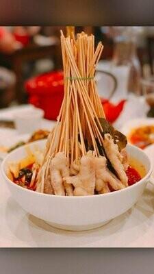 ZWCD【滋味成都】❄红油钵钵鸡 Red Chili Chicken and Mixed Vegetable Skewer  (周二休息,外卖不提供竹签,晚餐不配饭)