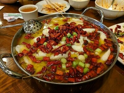 ZWCD【滋味成都】水煮鱼片 Boiled Sliced Fish in Hot Sauce (周二休息,晚餐不配饭)