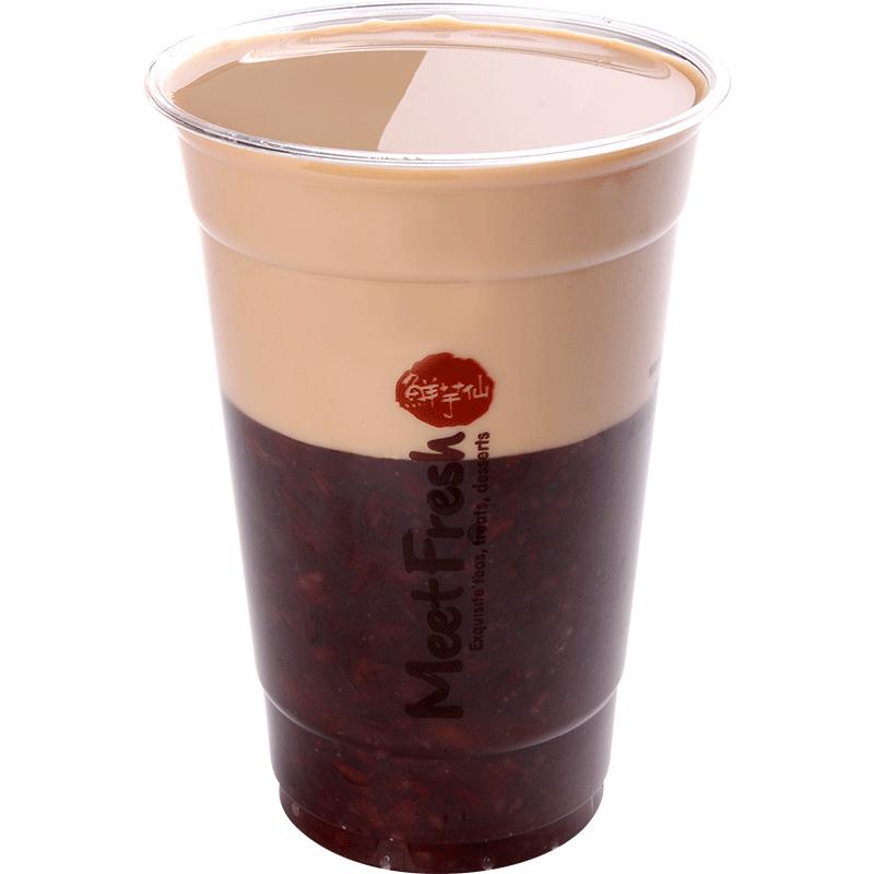 XYX【鲜芋仙】紫米奶茶 Purple Rice Drink w/Milk Tea