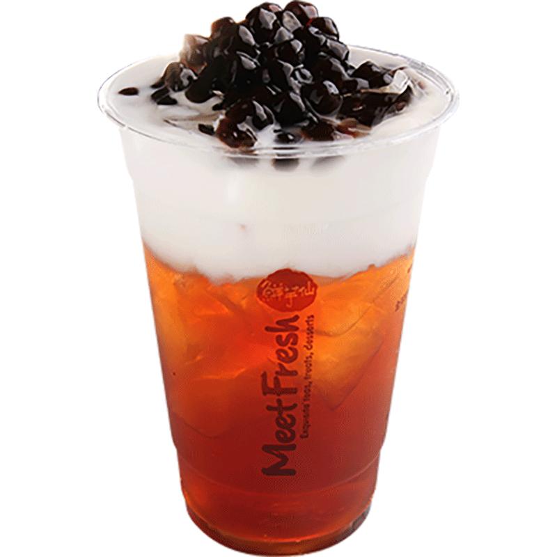 XYX【鲜芋仙】珍珠鮮奶茶 Fresh Milk Black Tea w/Boba