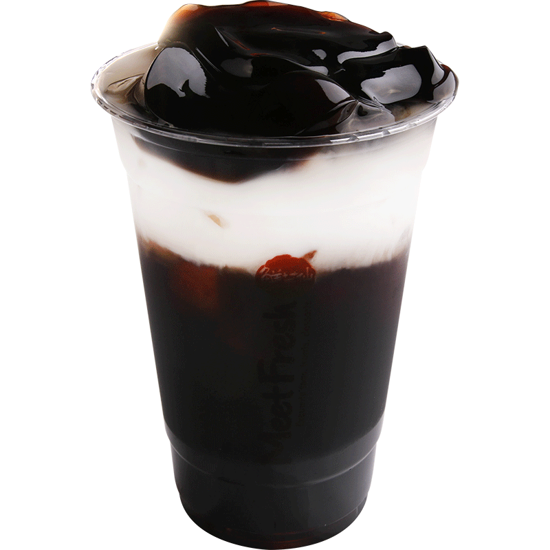 XYX【鲜芋仙】仙草鮮奶凍 Herbal Tea w/Fresh Milk & Grass Jelly