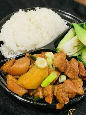 XSY【小沈阳】红烧肉炖土豆饭配菜