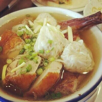 XGSJ【香港食街】云吞火鸭汤面 Wonton Noodle w/ Roasted Duck