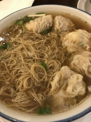 XGSJ【香港食街】鱼汤云吞米线 Wonton Rice Noodle w/ Fish Soup