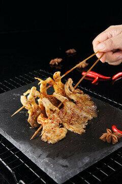 XJSK【新疆烧烤】烤蚝菇(5串)
