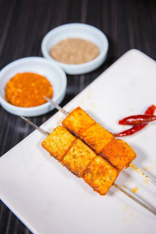 XJSK【新疆烧烤】烤鱼豆腐(5串)