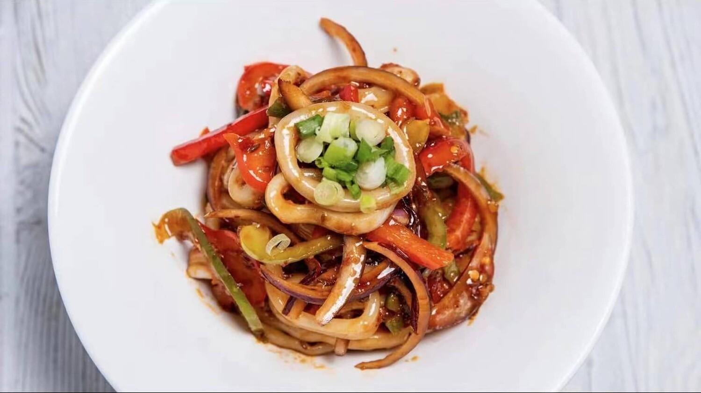 B2J【不二家酸菜鱼】火爆鱿鱼圈冷吃 Squid Salad