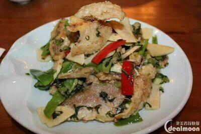 XZH【湘浙汇】雪菜冬笋黄鱼脯 Sauteed Bamboo Mustard w/ Croaker Fish (每周一休息)