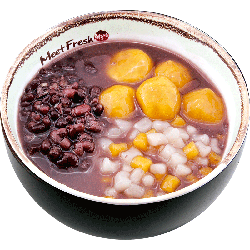 XYX【鲜芋仙】芋薯圆红豆汤 Red Bean Soup w/Mini Taro Ball & Sweet Potato Taro Ball