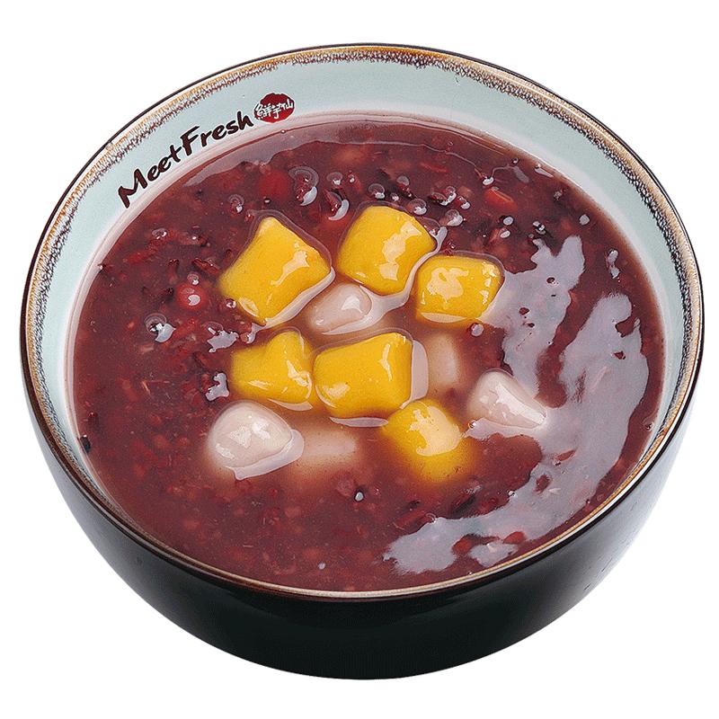 XYX【鲜芋仙】芋圆紫米粥 Purple Rice Soup w/Taro Ball