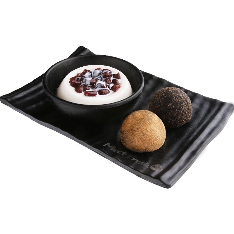 XYX【鲜芋仙】杏仁布丁麻糬拼盘 Almond Pudding & Peanut/Sesame Mochi Combo