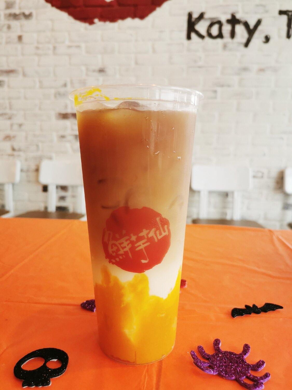 XYX【鲜芋仙】南瓜鲜奶乌龙茶 Pumpkin Oolong Tea with Fresh Milk