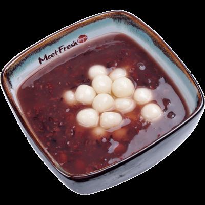 XYX【鲜芋仙】白玉汤圆紫米粥 Purple Rice Soup w/Rice Ball