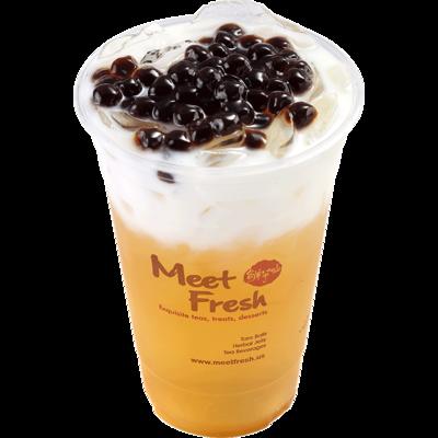 XYX【鲜芋仙】珍珠鮮奶綠 Fresh Milk Green Tea w/Boba