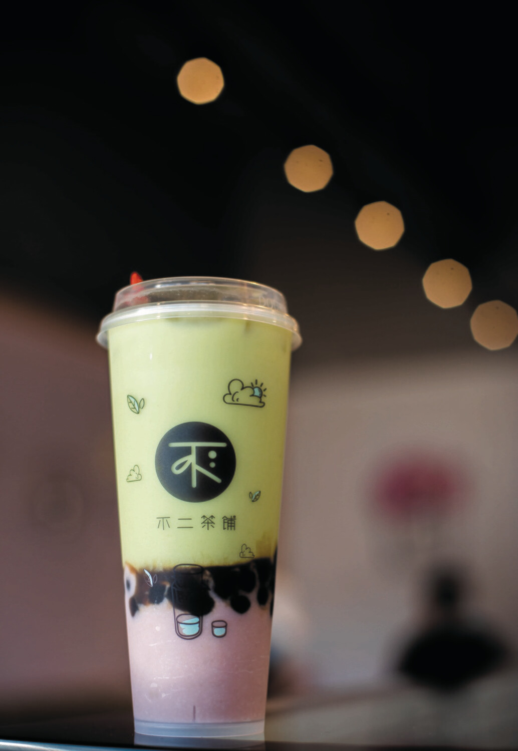 BECP【不二茶铺】厚芋泥波波抹茶 Matcha Latte with Taro and Boba