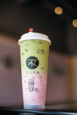 BECP【不二茶铺】抹茶莓莓 Strawberry Matcha Latte