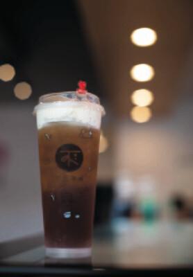 BECP【不二茶铺】芝士 蜜桃红茶 Peach Black Tea with Cheese Foam