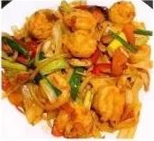 KLM【坤拉面】新疆鲜虾炒面/刀削面 Xingjiang Style Shrimp Ramen (周三休息)