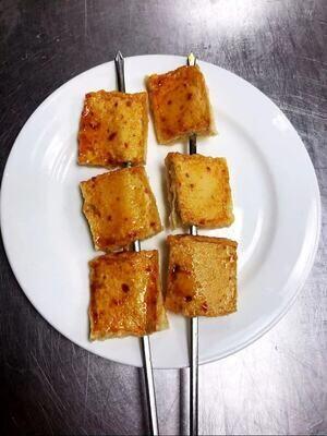 KLM【坤拉面】烤千页豆腐串 BBQ Tofu Sheets Skewers (周三休息)