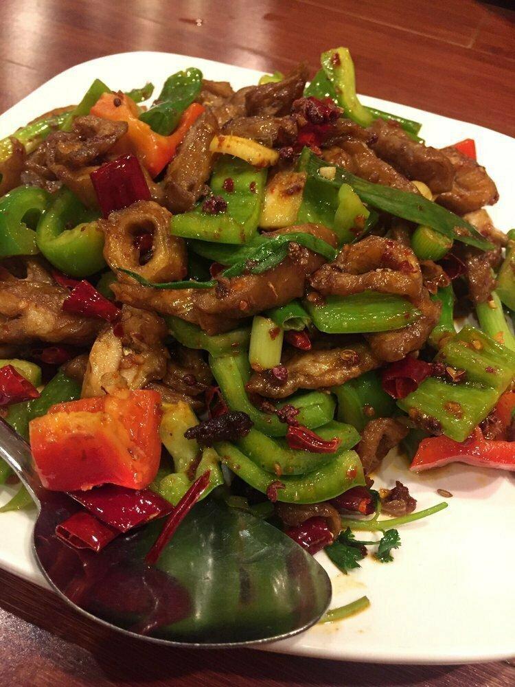 ZWCD【滋味成都】火爆肥肠 Dry Stir Fried Pig;s Intestines (晚餐不配饭)
