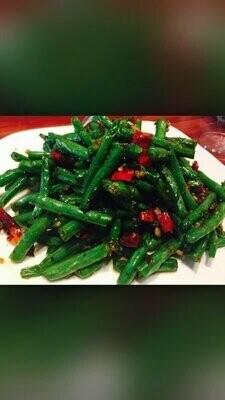 ZWCD【滋味成都】干煸四季豆  Sauteed String Bean (晚餐不配饭)